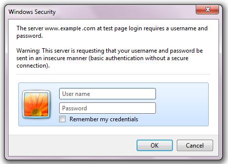 Windows7 の Internet Explorer(IE) でベーシック認証で失敗する
