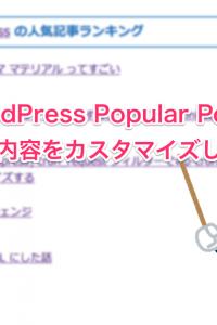 WordPress Popular Postsの表示内容をカスタマイズする